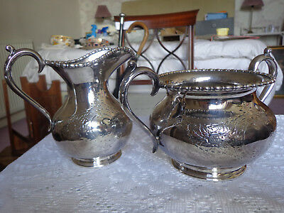 VINTAGE SILVER-PLATED MATCHING JUG AND BOWL by Harrison Fisher & Co.