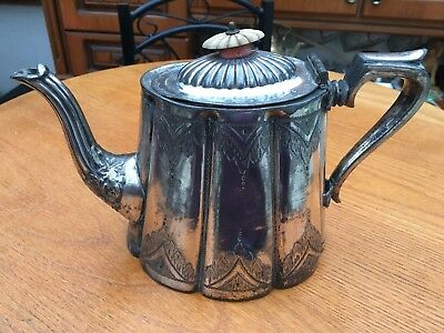 """EP /Silver-Plated Fancy/Ornate Tea Pot 6.5"""" tall,"""