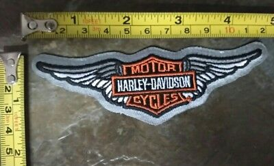 Harley Davidson 🐖(Limited Edition Silver Backed) Bar & Shield With Wings Patch