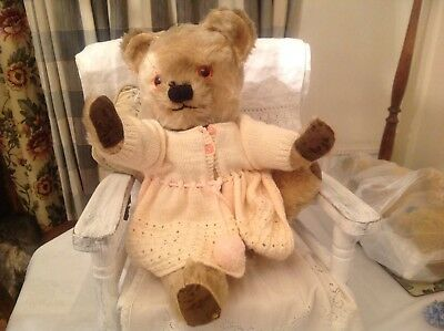 Antique Vintage Chad Valley 1940s 50s  Beautiful Mohair old Growling Teddy Bear