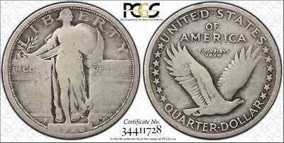 1916 25C Standing Liberty Quarter G-6 PCGS Secure, Key Date to the Series Rare!