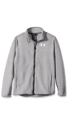 Under Armour ColdGear Infrared Performance Boys Fleece Grey Jacket Size S (7-8)