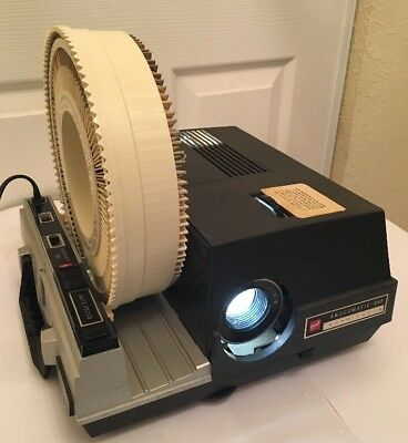 Vintage GAF Anscomatic 690 Auto Focus Slide Projector With 2 Rototray Slide Tray