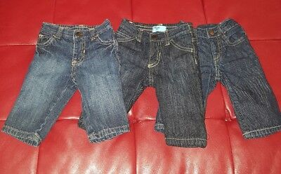 (Lot of 3) Baby Boys Jeans  OLD NAVY (3/6 mos) & GAP (0/3 mos) Fall Winter Wear