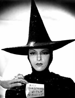 """GALE SONDERGAARD """"WICKED WITCH"""" MAKE UP TEST PHOTO from the movie WIZARD OF OZ"""