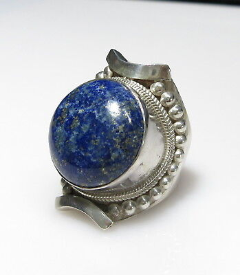 Old Stock Large SODALITE Sterling Silver Ring size 11 / W