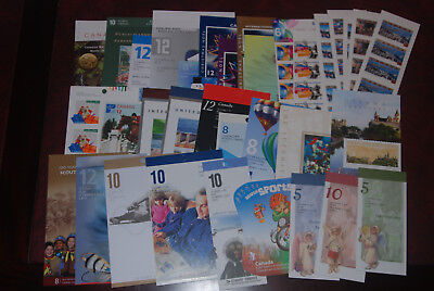Canada MNH lot of booklets, $149.99 Face value, self-adhesive high value postage
