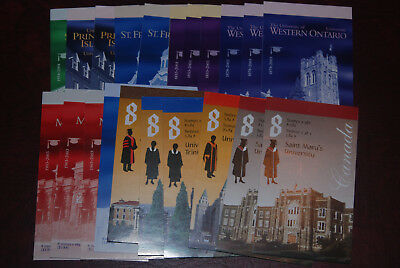 Canada MNH lot of booklets, $80.88 Face value postage, Universities issues