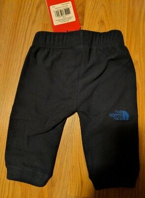Baby Toddler THE NORTH FACE Fleece Pants Size 0-3 MO Black