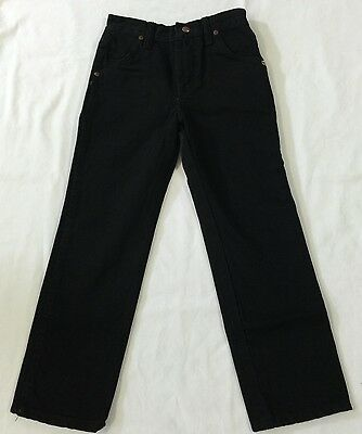 Wrangler ~ Children's Pro Rodeo Jeans ~ Size 11 Regular ~ TRUE BLACK
