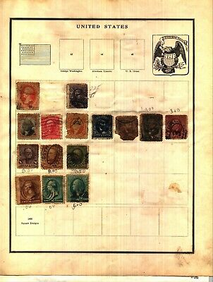 UNITED STATES 1869-1930 Lot of  Stamps Collection on Minkus Album Pages