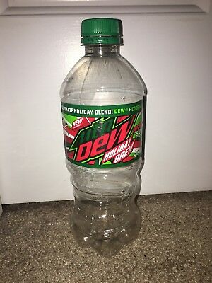Mountain Dew Holiday Brew 20 oz bottle HTF