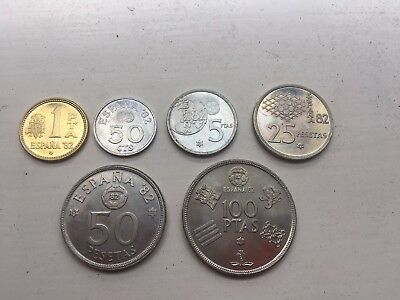 1980 Spain Soccer Set 6 Coins for the 1982 World Cup