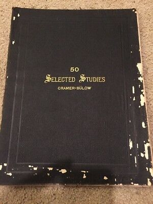 60 Selected Studies By J B Cramer Antique Music Book