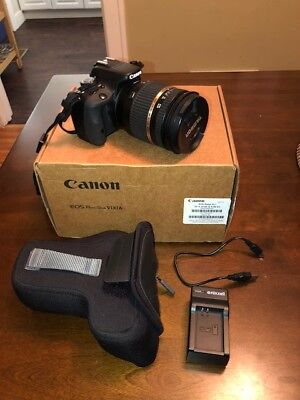Canon EOS Rebel SL1 EOS 100D 18.0 MP Digital SLR Camera w/ Wide Angle Lens!