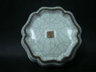 "Rare Fine Old Chinese ""Guan"" Kiln White Glaze Porcelain Brush Washer Bowl Mark"