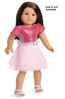 """NEW American Girl Pink Ruffle Dress Shoes Outfit Set For 18"""" Blaire Doll RETIRED"""