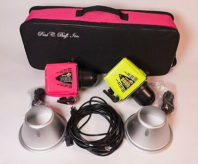 "Alien Bees Photo Strobe Kit (2 Heads), 64"" Umbrellas, 64"" Diffusers, Padded Case"