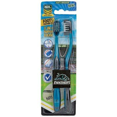 NEW Penrith Panthers NRL Toothbrush - 2 Pack