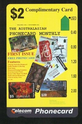 PRISTINE 1 - HOLE $2 PHONECARD MONTHLY  COMPLIMENTARY Pre C  652