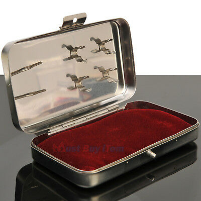 Acupuncture Hand Needles Stainless Steel Carrying Case Holder Medical Supplies