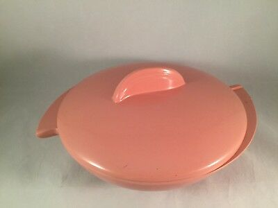 Boonton Made in USA Funky 60's Melamine Melmac Divided Dish Bowl 605-10 603 Lid