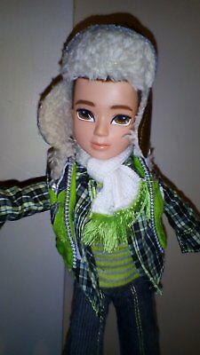 MOXIE BOY DOLL-SNOWBOARDER EUC (orig outfit)+NUDE GIRL DOLL TOO