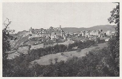 D6113 Roccastrada - Roccatederighi - Panorama - Stampa d'epoca - 1933 old print