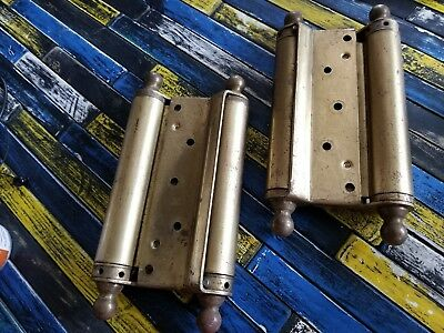 """Pair of VINTAG Bommer 8"""" Heavy Double Action Spring Hinges Gate Cafe Saloon Door"""