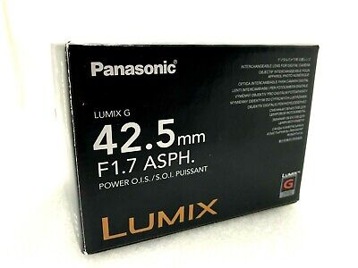 New Panasonic LUMIX G 42.5mm f/1.7 ASPH. POWER O.I.S. Lens - SILVER [H-HS043]