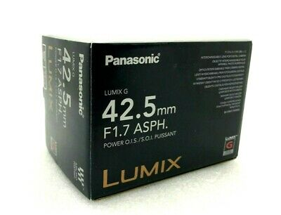 New Panasonic LUMIX G 42.5mm f/1.7 ASPH. POWER O.I.S. Lens - BLACK  [H-HS043]