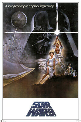 """STAR WARS: EPISODE IV - A NEW HOPE - MOVIE POSTER (STYLE A) (SIZE: 24"""" x 36"""")"""