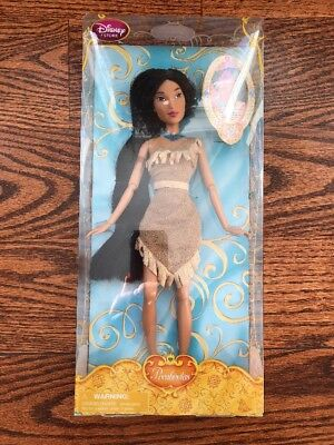 "NEW Disney Store Classic Princess Pocahontas Doll 12"" FREE SHIPPING"