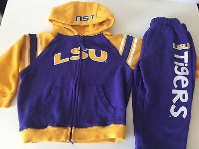 LSU Purple Gold Tigers Sweat suit 3 toddler by colosseum