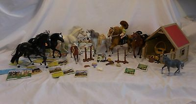 Grand Champion Horses plus Lot Toy Horses plus Stable Barn & Accessories
