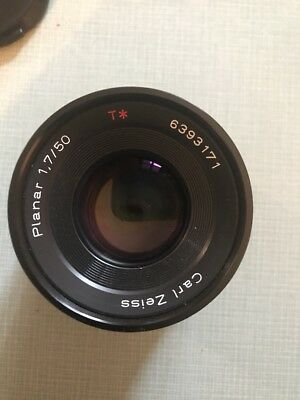Carl Zeiss Contax 50mm f1.7 Planar C/Y Mount  MINT conditions