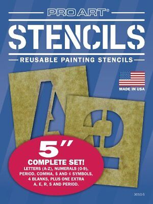 NEW Pro Art 5 Inch Painting Stencil Set Letters and Numbers FREE SHIPPING