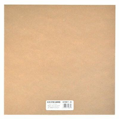 NEW Grafix Medium Weight Chipboard Sheets 12 Inch by 12 Inch Natural 25 Pack