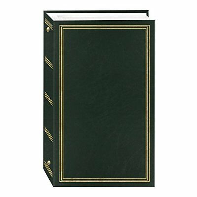 NEW 3 Ring Photo Album 300 Pockets Hold 4x6 Photos Hunter Green FREE SHIPPING