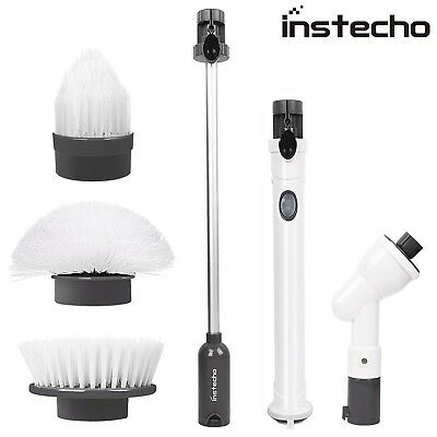 Spin Scrubber Rechargeable power Scrubber with 3 Head Sets for Multi-Purpose ...