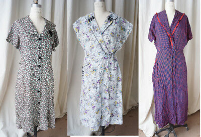 lot of 3 40s 50s dresses slightly distressed