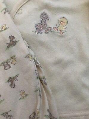 Baby 6- 9 Mo Unisex Two Piece Set First Impressions Duck Giraffe Yellow Neutral