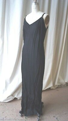 black 1930s bias cut slip for eves gown