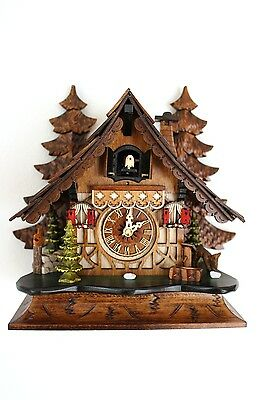 cuckoo clock black forest quartz german wood batterie clock handmade table clock