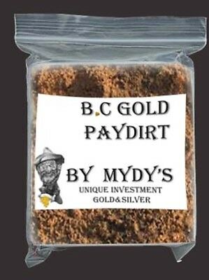 2 Lbs BC Gold Paydirt Unsearched and 100% Added GOLD! Panning Nuggets (#3546)