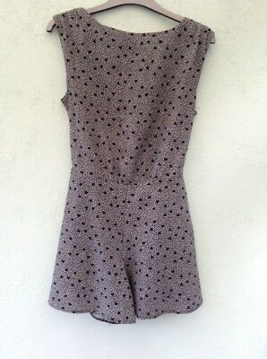 Ladies Sleeveless Play Suit Sze 4 From Miss Selfridges Grey Mix With Back Detail
