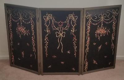Vintage 1920's Fireplace Screen Cover Embroidered NO SHIPPING! Picture Frames