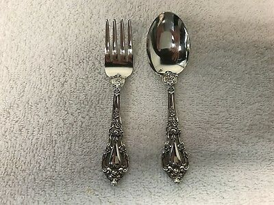 Lunt Eloquence Sterling 2 piece Baby Set