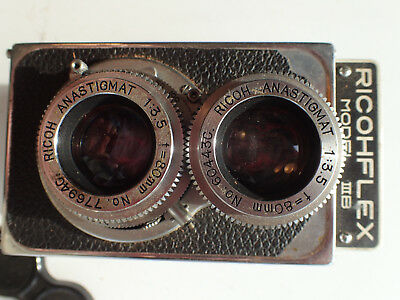 Ricohflex TLR Twin Lens Reflex Collectible Portrait Camera IIIB w/ Case 4CHARITY