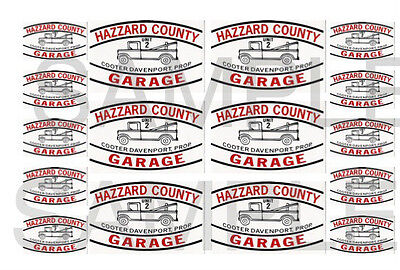 Hazard County Garage Decals Cooter's tow truck 1:32, 1:24, 1:18 0r 1:10 scale